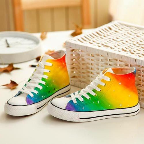 Women's Rainbow Canvas Shoes