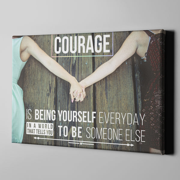 Courage LGBT Canvas Print Art