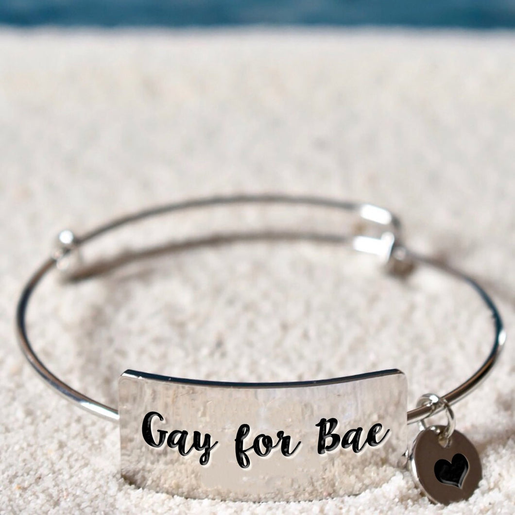 Gay For Bae Bangle Bracelet