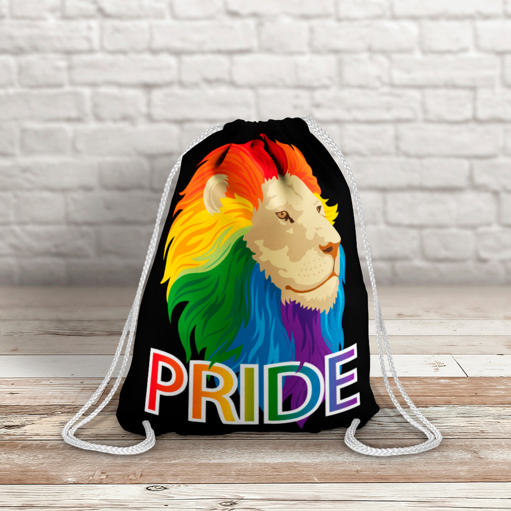 Pride Lion Drawstring Bag