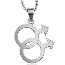 Load image into Gallery viewer, Gay Pride Pendant Necklace