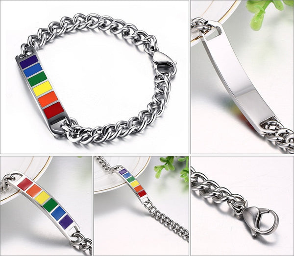 Stainless Steel Rainbow Bracelet