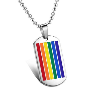 Rainbow Dog Tag