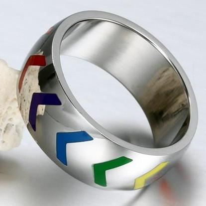 Rainbow Arrows Ring