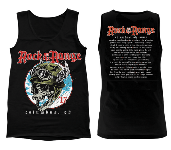Flying Skull Black Tank