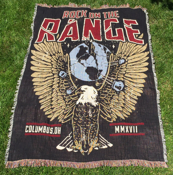 ROCK ON THE RANGE 2017 EAGLE GLOBE WOVEN BLANKET