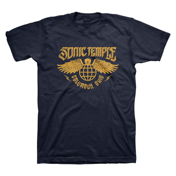 Globe Wings Unisex Tee - Navy