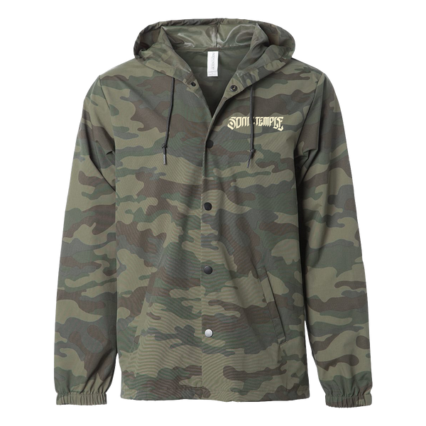 Logo Hooded Windbreaker Camo