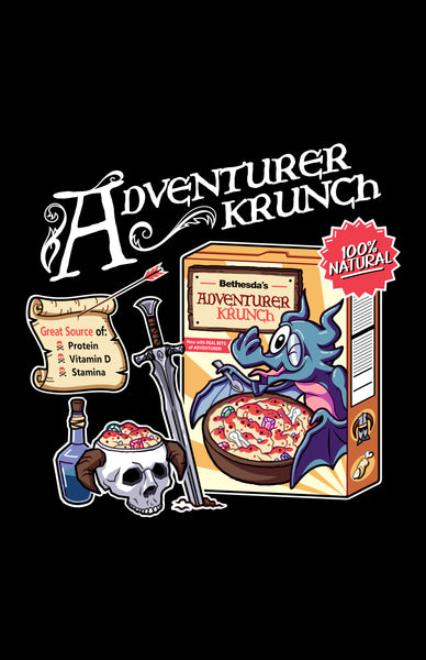 "Adventurer Krunch 11"" x 17"" Print (Black)"
