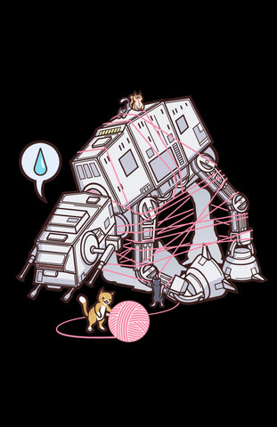 "Cats vs. AT-AT 11"" x 17"" Print (Black)"