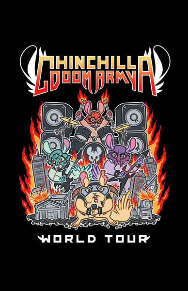 "Chinchilla Doom Army 11"" x 17"" Print (Black)"