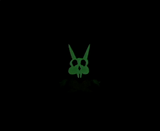 Pirate Doom Bunny Glow in the Dark Enamel Pin