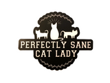 "PERFECTLY SANE CAT LADY VINYL DECAL(4"")"