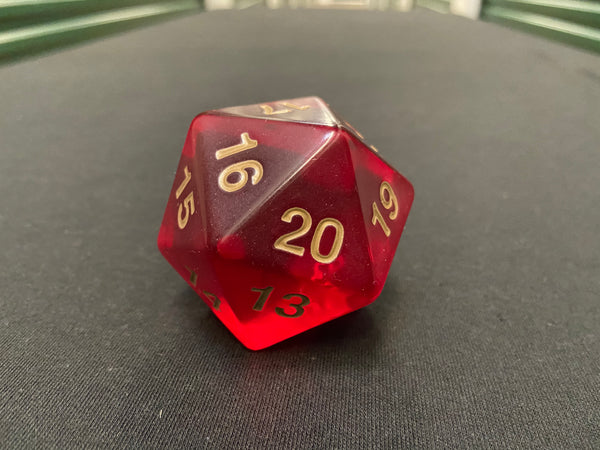 Large D20 Translucent (Red)