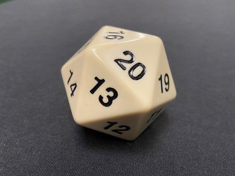 Large Solid D20 Dice (White)