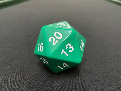 Large Solid D20 Dice (Green)