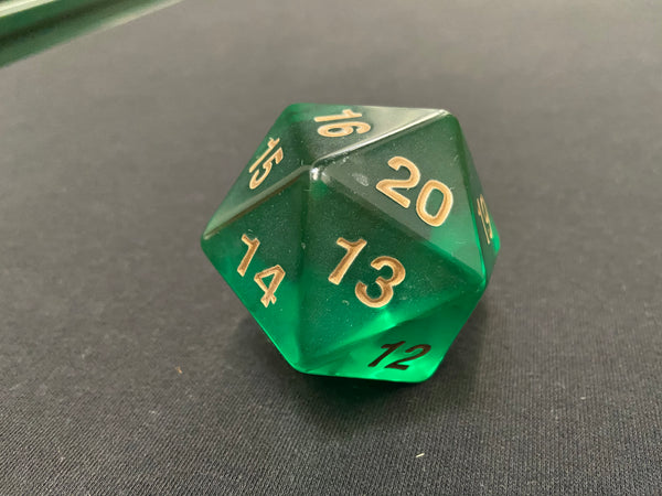 Large Translucent D20 Dice (Green)