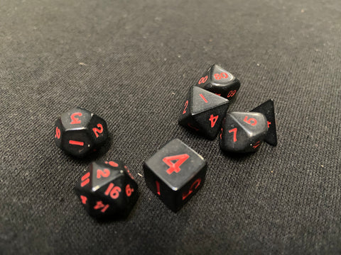 Koplow Red/Black 7-Piece Mini-Dice Set