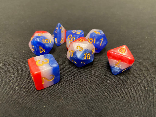 Koplow Old Glory 7-Piece Dice Set
