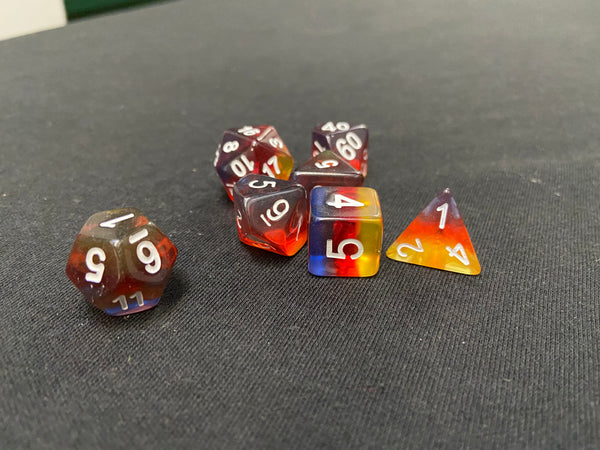Kaplow Sunset 7-Piece Dice Set
