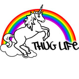 Thug Life Rainbow Unicorn T-Shirt (Men's) (White)