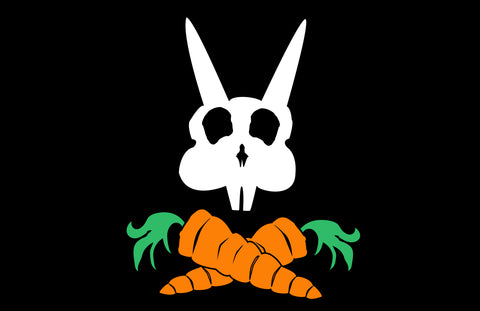 "Pirate Doom Bunny 11"" x 17"" Glossy Print"
