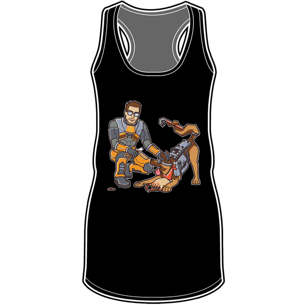 Of Canines and Crowbars Racerback Tank Top