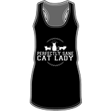 Perfectly Sane Cat Lady Racerback Tank Top