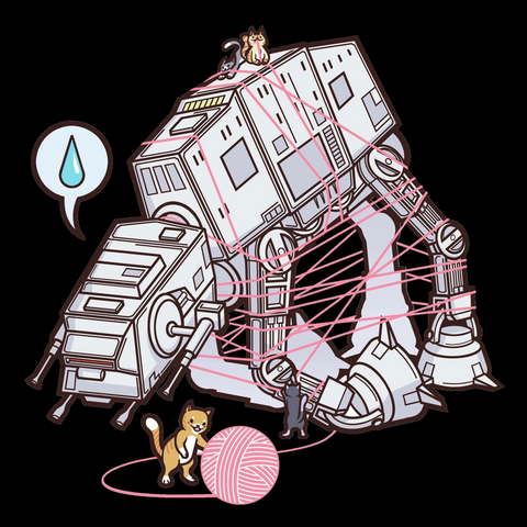 Cats vs AT-AT Racerback Tank Top