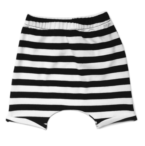 Black and White Hareem Shorts