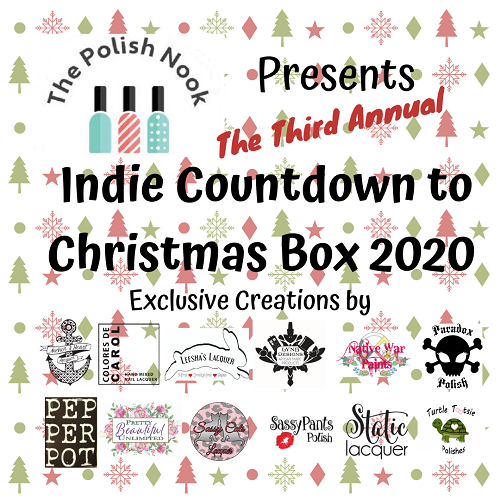 The Polish Nook Presents: Third Annual Indie Countdown to Christmas Box 2020