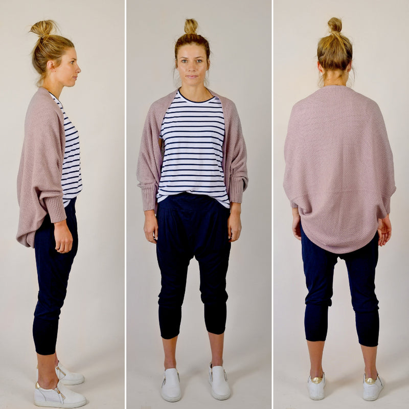 The All Rounder Cardigan Mauve | Hello Friday