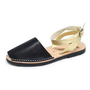 Black & Gold Ankle Strap | Lovelee Soles