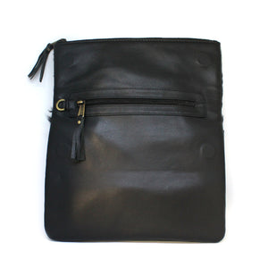 Black Fold Over Bag Open