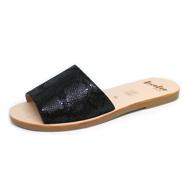 LOVELEE SLIDE - BLACK SNAKE Size 36 & 38