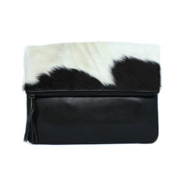 LUXE BLACK FOLD OVER BAG