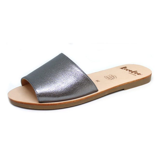 LOVELEE SLIDE - CHARCOAL METALLIC