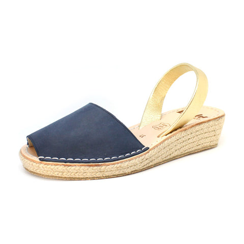Duksy Blue Mini Rope Wedge | Lovelee Soles