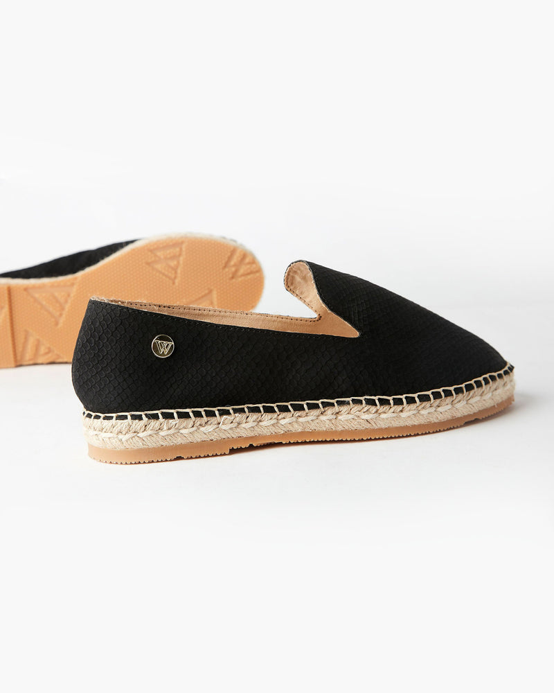 Golden Espadrille Black
