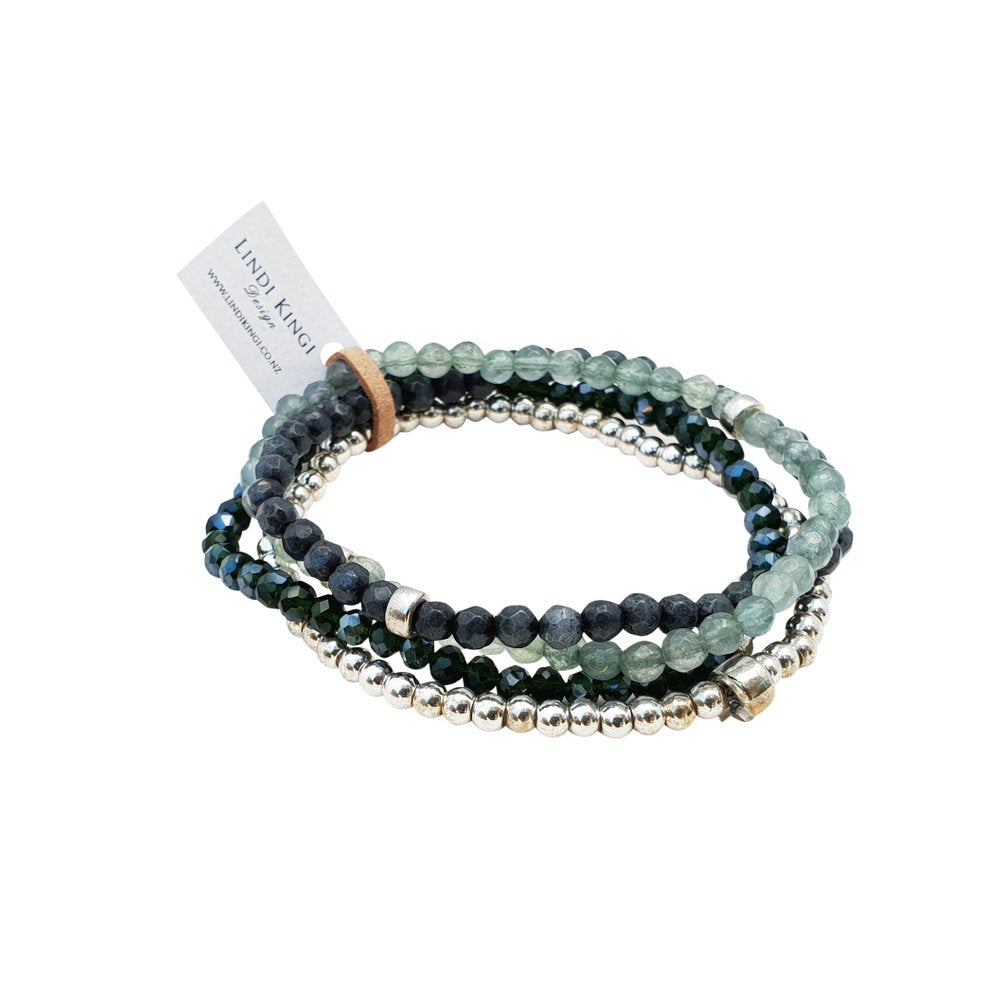 Midnight Moss Green Bracelet Set | Lindi Kingi