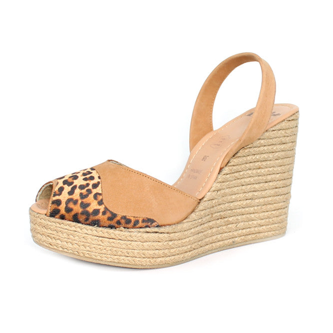 LEOPARD ROPE WEDGE - LAST PAIR SIZE 36
