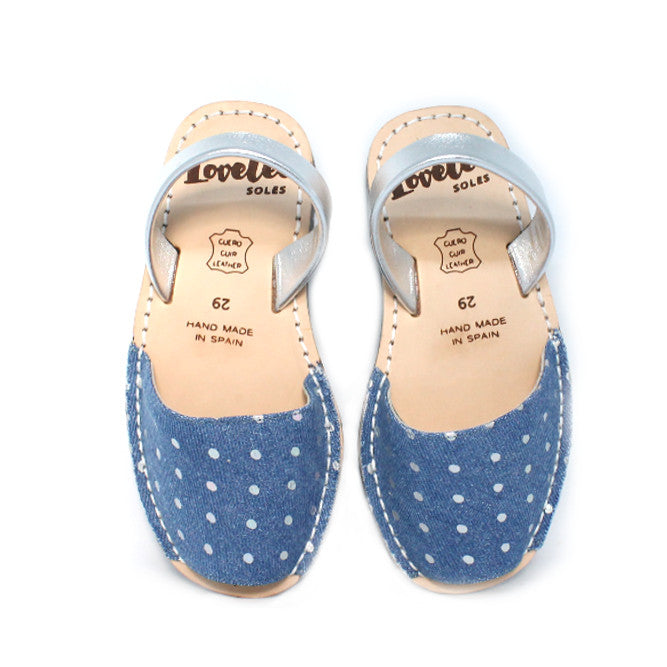 Lil' Lovelee Denim Spots | Lovelee Soles