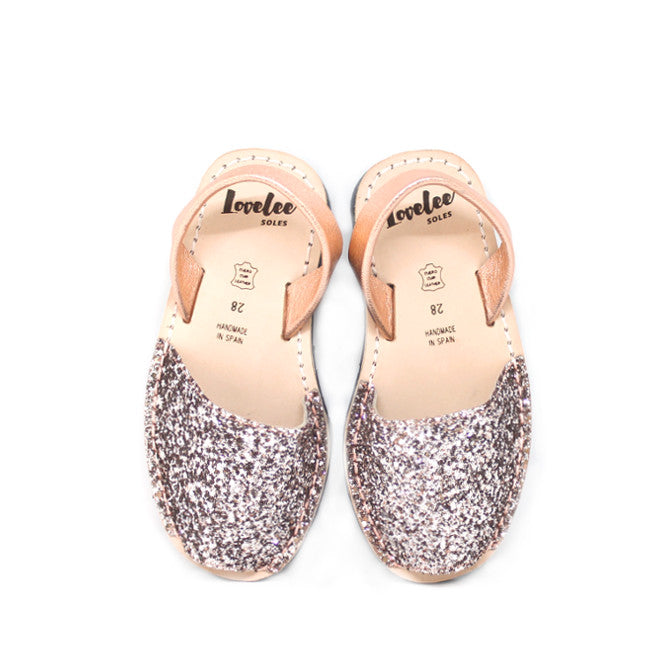Champagne Pink Glitters | Lil' Lovelee Soles