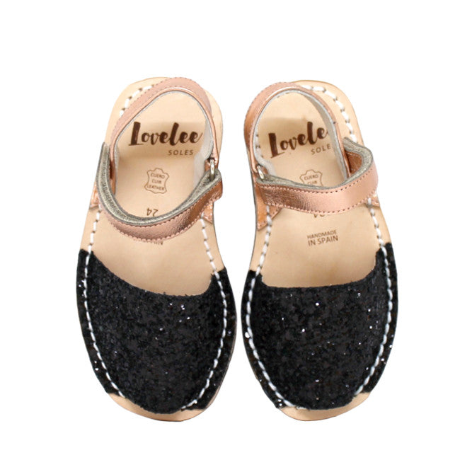 Black Glitter & Rose Gold | Lil Lovelee Soles