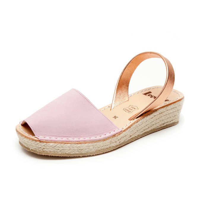 LOVELEE PINK/ROSE GOLD MINI ROPE WEDGE