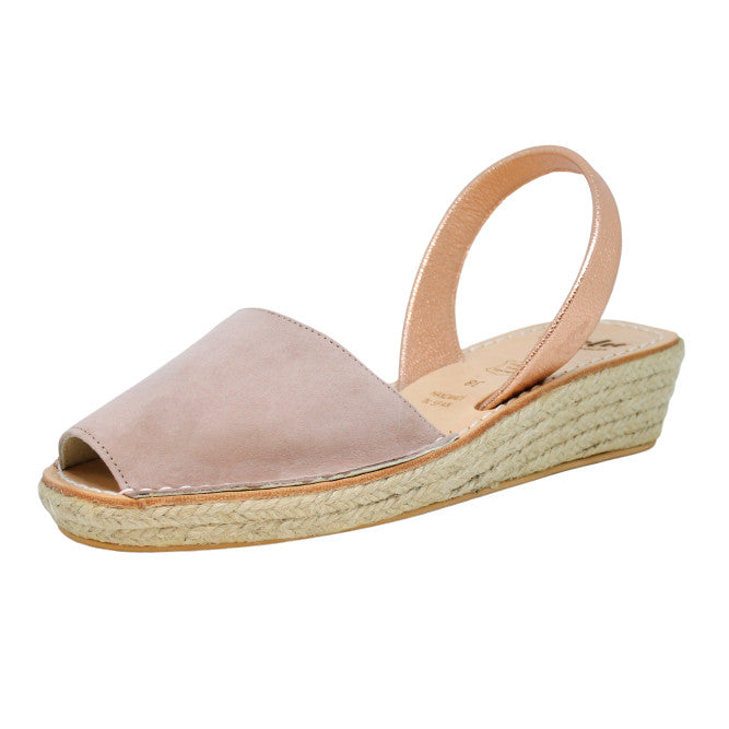 Mocha Pink Mini Rope Espadrille Wedge | Lovelee Soles