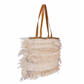 LUXE BOHO EMBROIDERED SHOULDER BAG