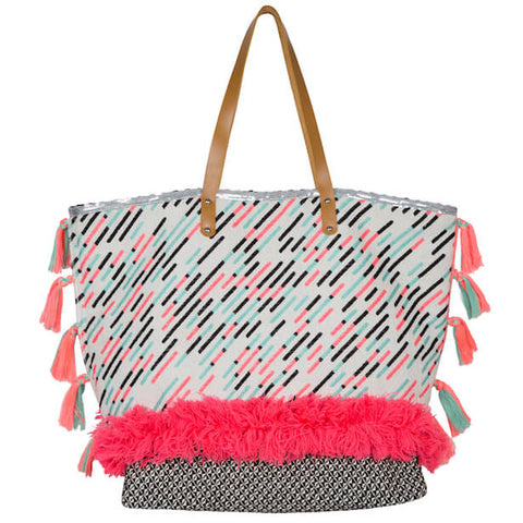 LUXE BOHO NEON TOTE