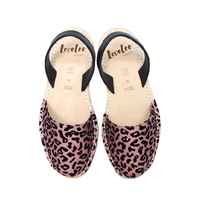 Coral Pink Glitter Leopard | Lovelee Soles