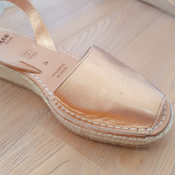 ROSE GOLD MINI ROPE WEDGE - MINOR FLAW SIZE 41